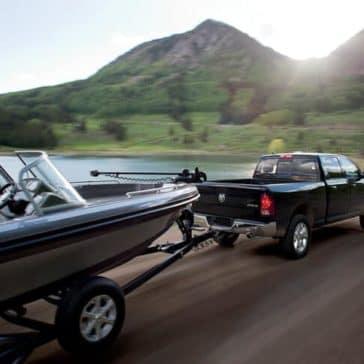2018 RAM 1500 Towing Boat Through Mountains