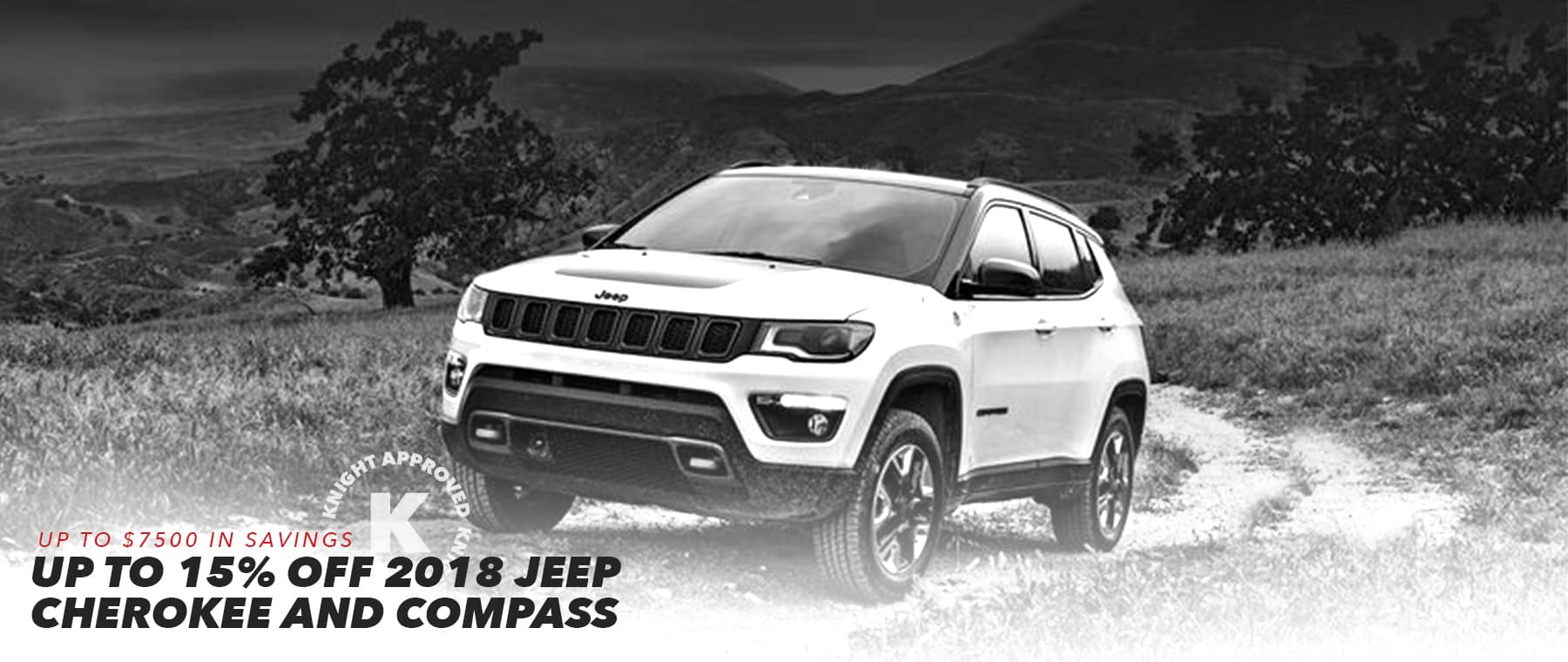 2018 Jeep Cherokee and Compass Homepage Slider