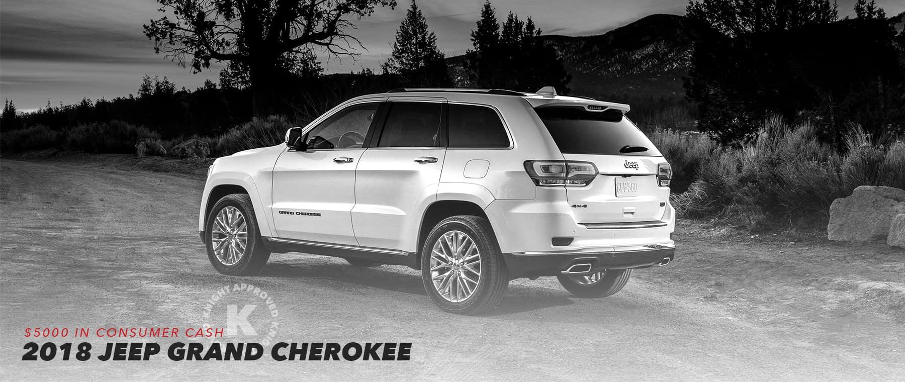 2018 Jeep Grand Cherokee Homepage Slider
