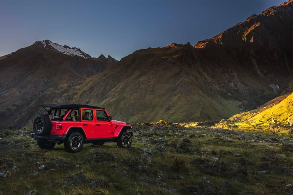 2019 Jeep Wrangler parked near mountains