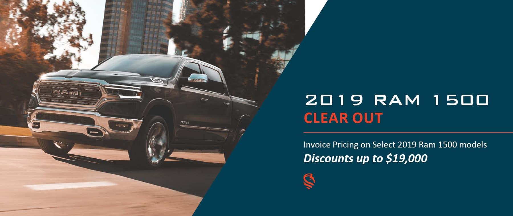 2019 Ram 1500 Invoice Pricing