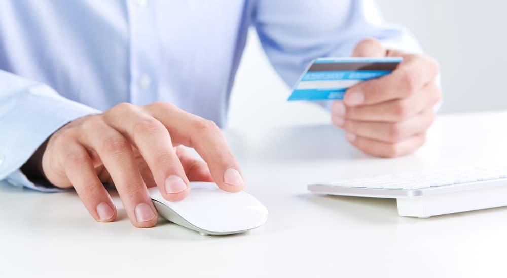 credit card being run