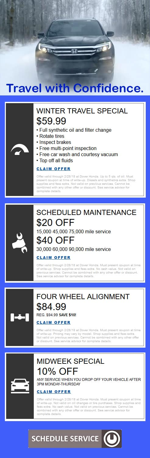 Honda service discounts coupons