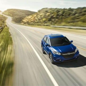 2018 Honda HR-V blue exterior