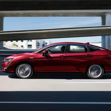 2018 Honda Clarity Plug-In Hybrid red exterior