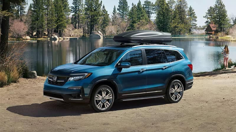 2019 Honda Pilot Parked at Camping Grounds
