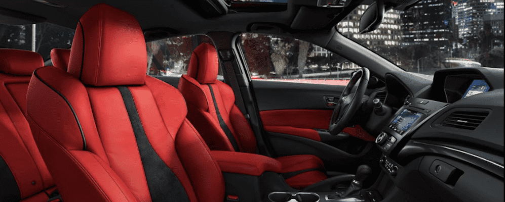 Red 2019 Acura ILX Interior