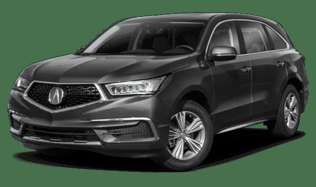 Black 2019 Acura MDX Facing Forward