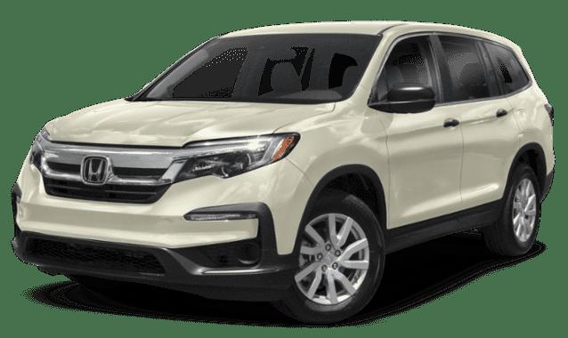 Cream 2019 Honda Pilot Facing Forward