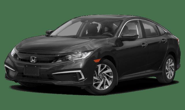 Black 2019 Honda Civic EX