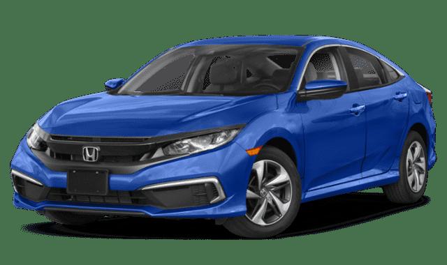 Blue 2019 Honda Civic LX