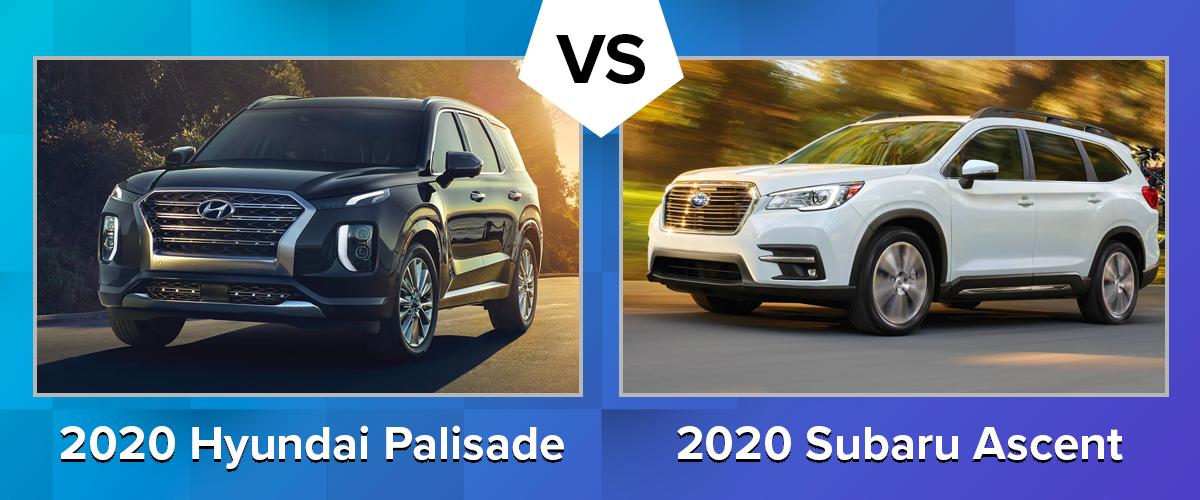 Compare the 2020 Hyundai Palisade vs 2020 Subaru Ascent Chicago IL