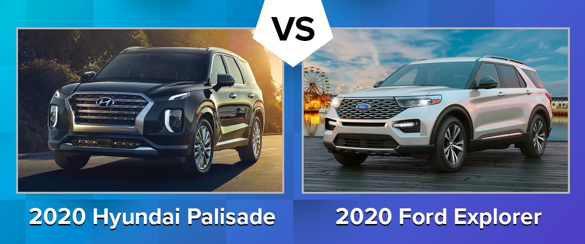 Compare the 2020 Hyundai Palisade vs 2020 Ford Explorer Chicago IL