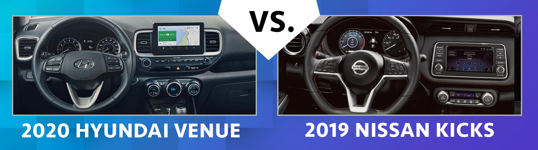 Compare 2020 Hyundai Venue vs 2019 Nissan Kicks Chicago IL