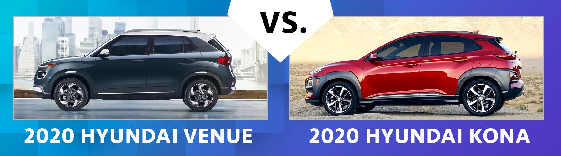 Contrast 2020 Hyundai Venue vs 2020 Hyundai Kona Chicago IL
