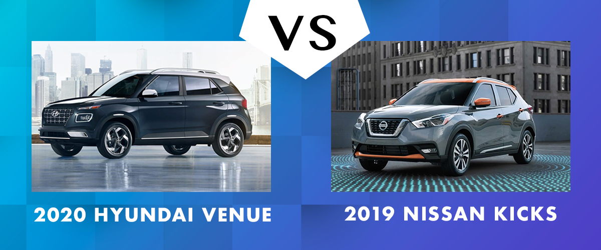 2020 Hyundai Venue vs 2019 Nissan Kicks Chicago IL