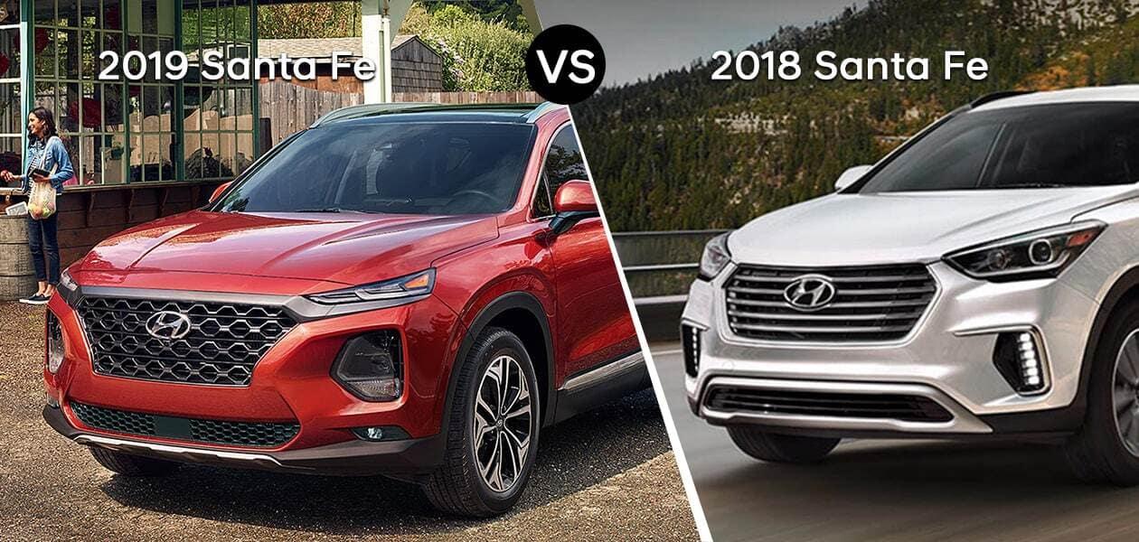 2019 Hyundai Santa Fe Chicago Vs 2018 Hyundai Santa Fe Family Hyundai