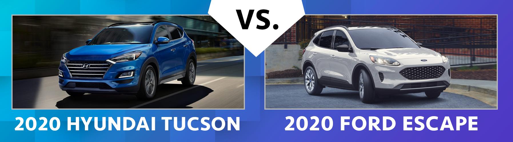 2020 Hyundai Tucson vs 2020 Ford Escape