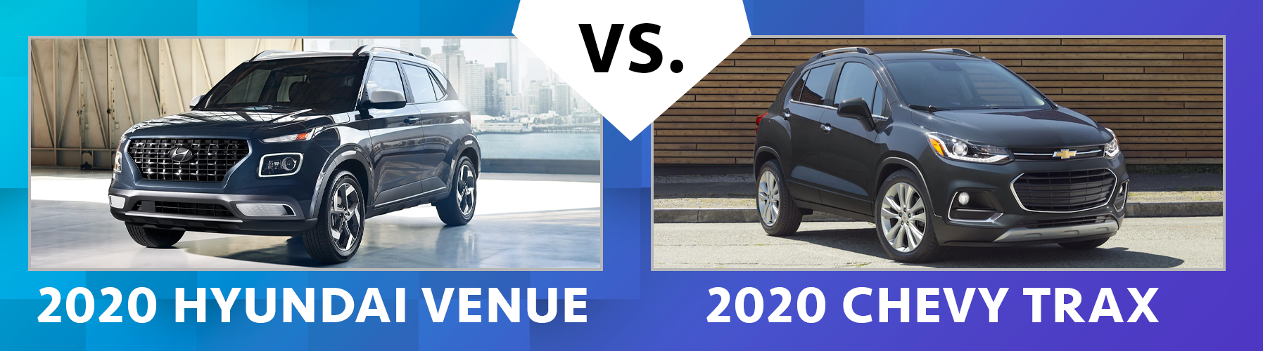 2020 Hyundai Venue vs 2020 Chevy Trax Comparisons