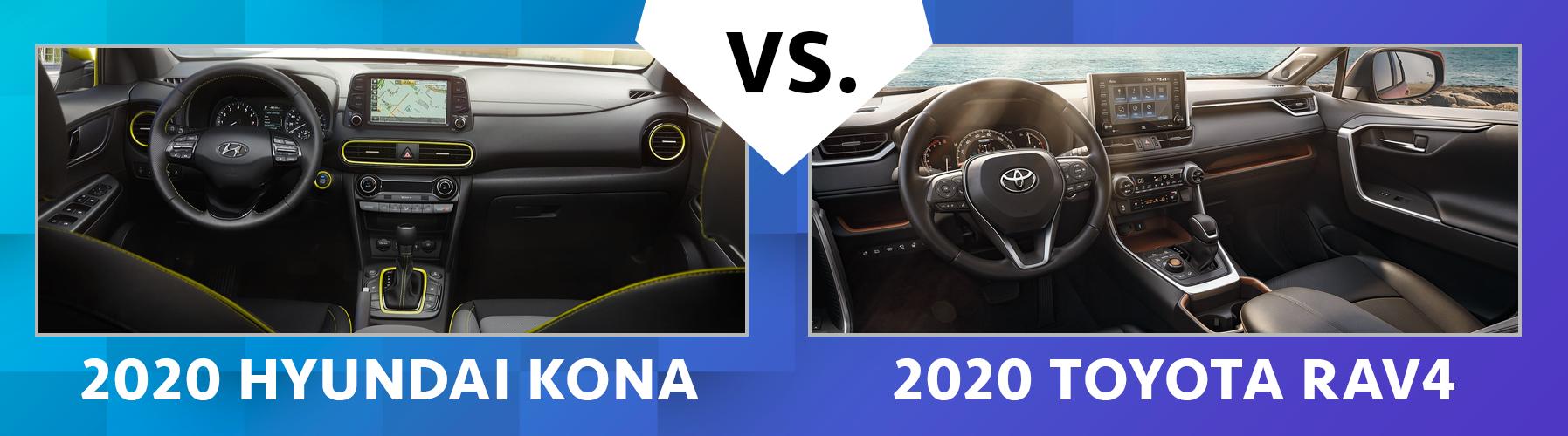 Compare 2020 Hyundai Kona vs 2020 Toyota RAV4