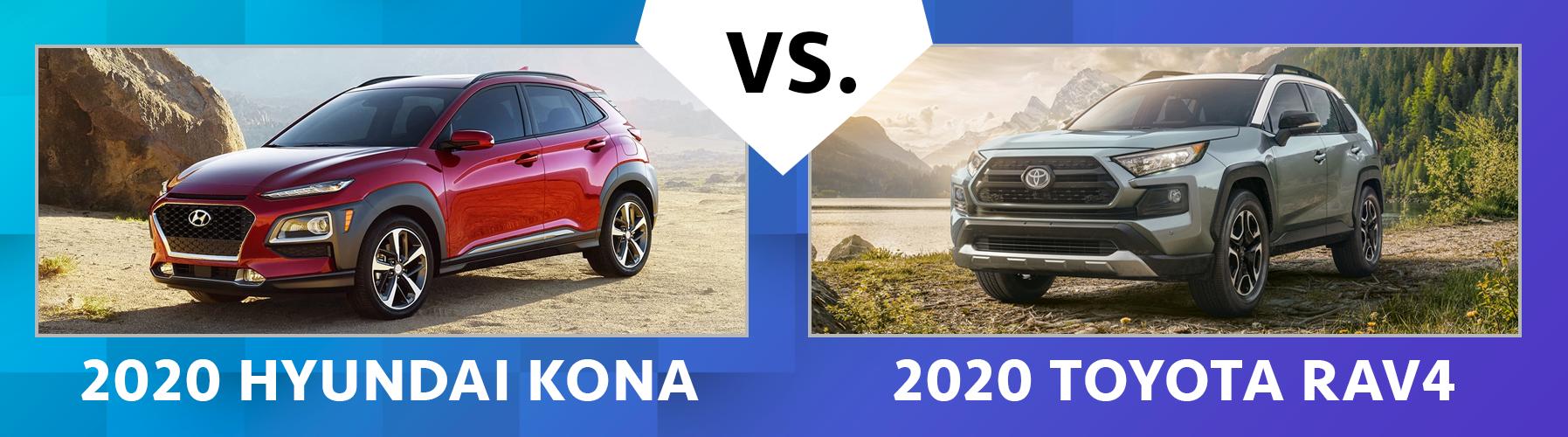 Contrast 2020 Hyundai Kona vs 2020 Toyota RAV4
