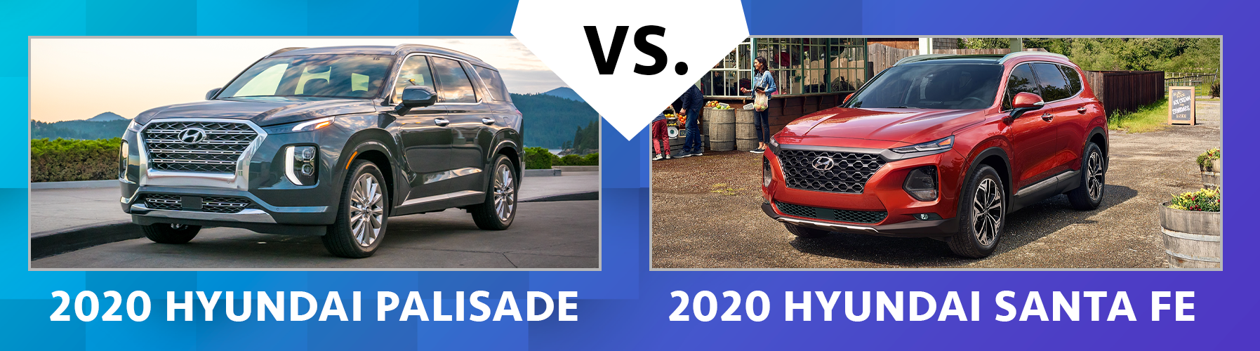 2020 Hyundai Palisade vs 2020 Hyundai Santa Fe Chicago IL