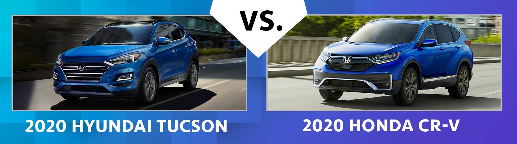 W2020 Hyundai Tucson vs 2020 Honda CR-V Comparisons