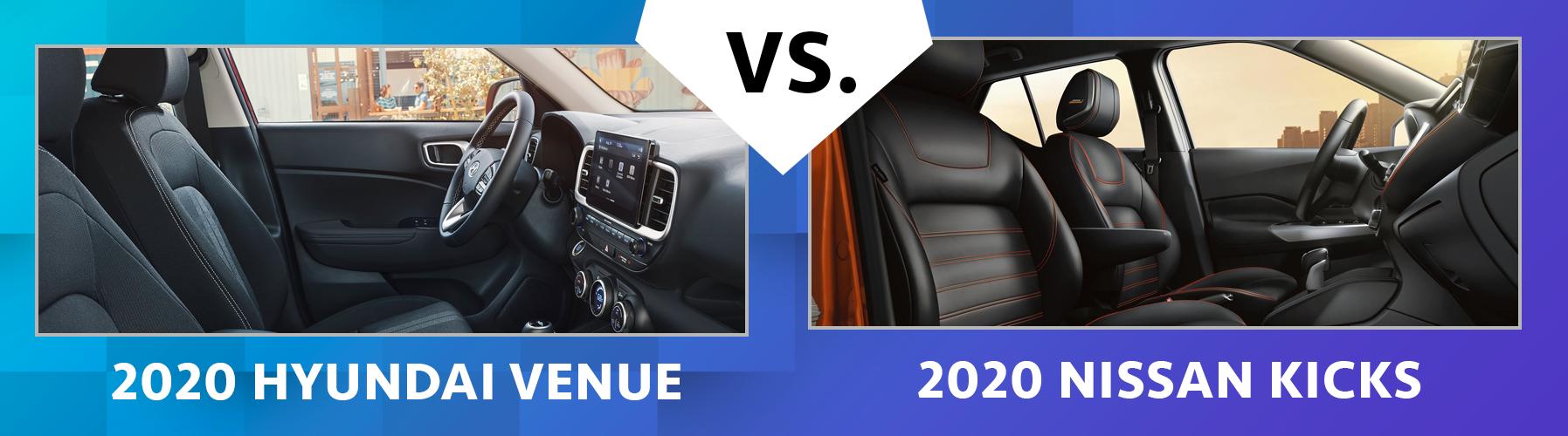 2020 Venue vs 2020 Nissan Kicks Interior