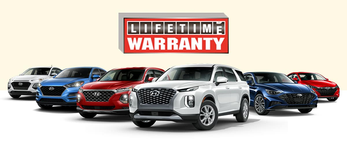 The Family Hyundai Exclusive Lifetime Warranty is INCLUDED on ALL NEW vehicles, at NO extra charge to you!