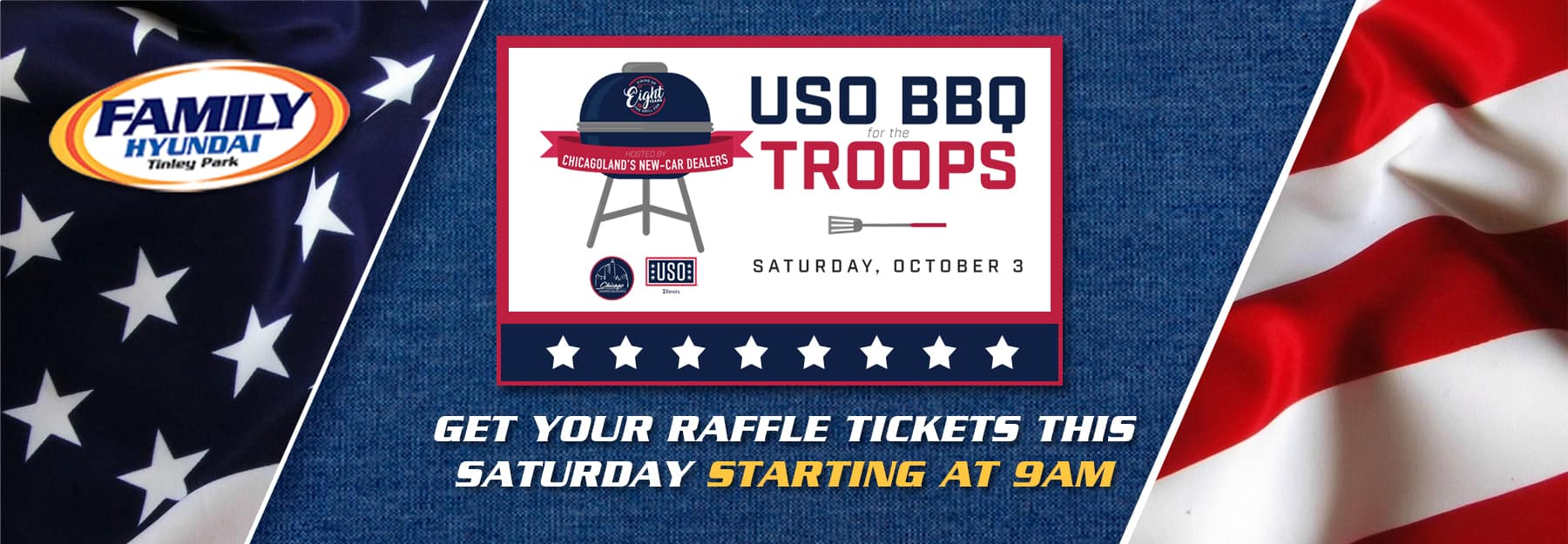 USO BBQ For the Troops at Family Hyundai