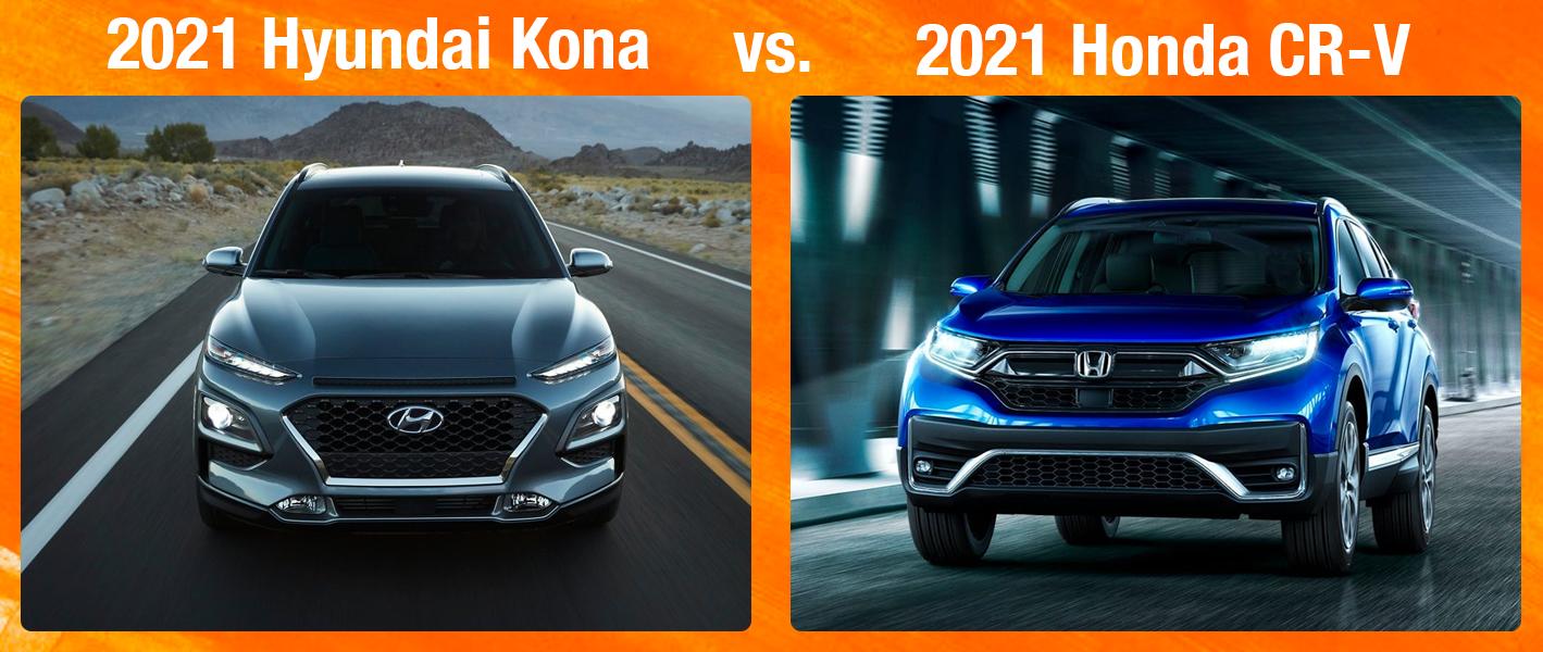 2021 Hyundai Kona vs 2021 Honda CR-V
