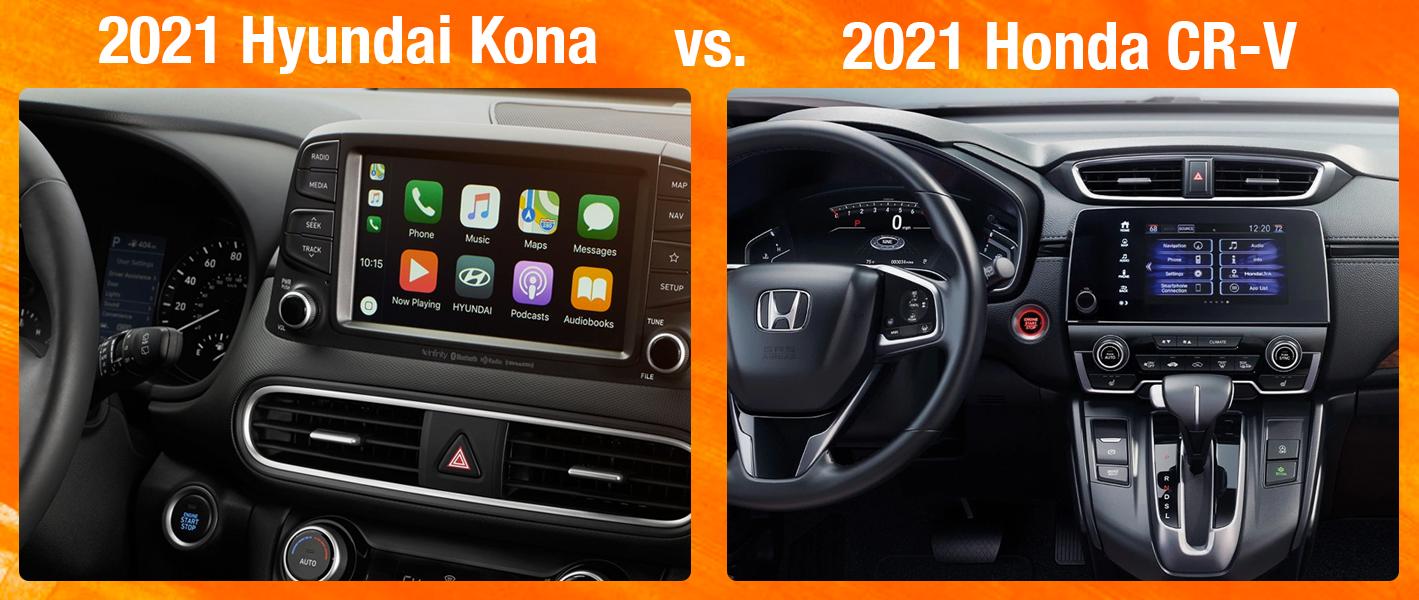 2021 2021 Kona vs 2021 Honda CR-V Performance and Safety