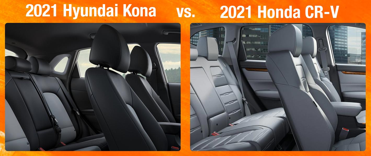 2021 Hyundai Kona vs 2021 Honda CR-V Infotainment