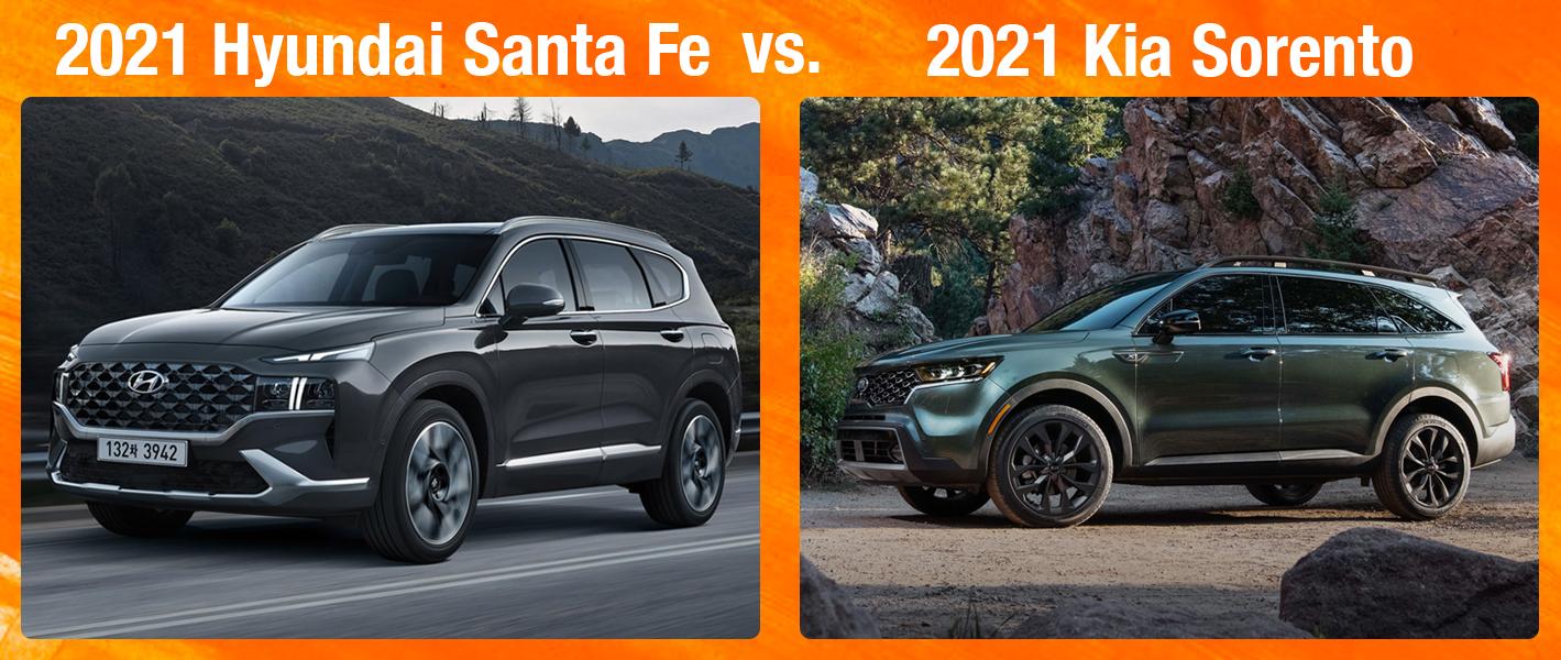 2021 Hyundai Santa Fe vs 2021 Kia Sorento