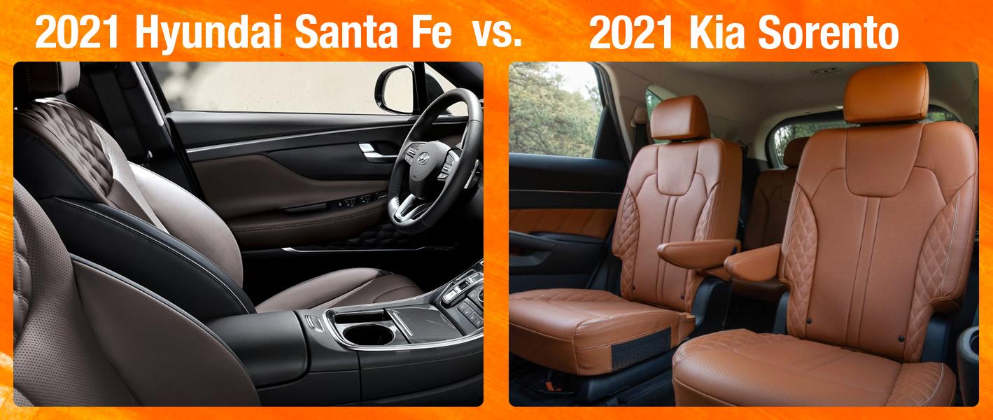 2021 Hyundai Santa Fe vs 2021 Kia Sorento Safety Features