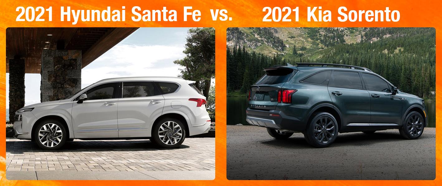2021 Hyundai Santa Fe vs 2021 Kia Sorento Interior