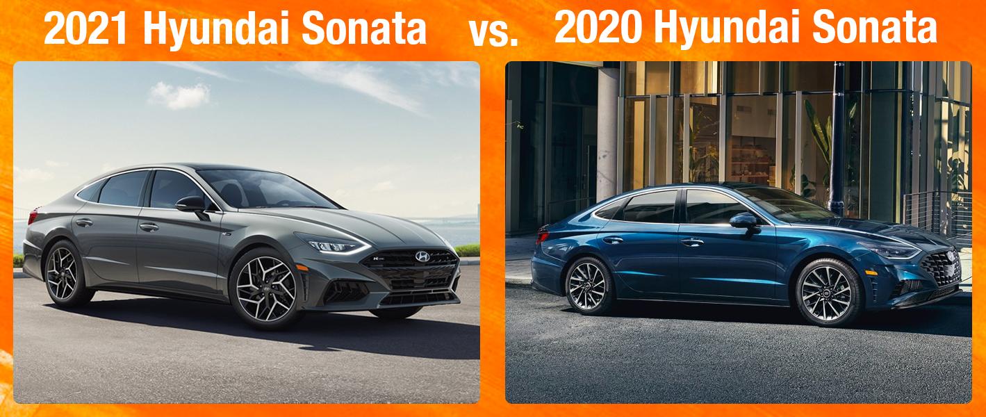 2021 Hyundai Sonata vs 2020 Hyundai Sonata
