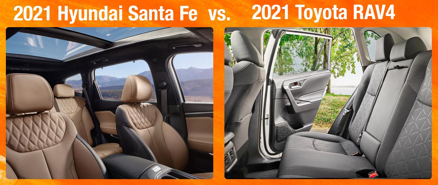 Santa Fe vs Toyota RAV4 Technology