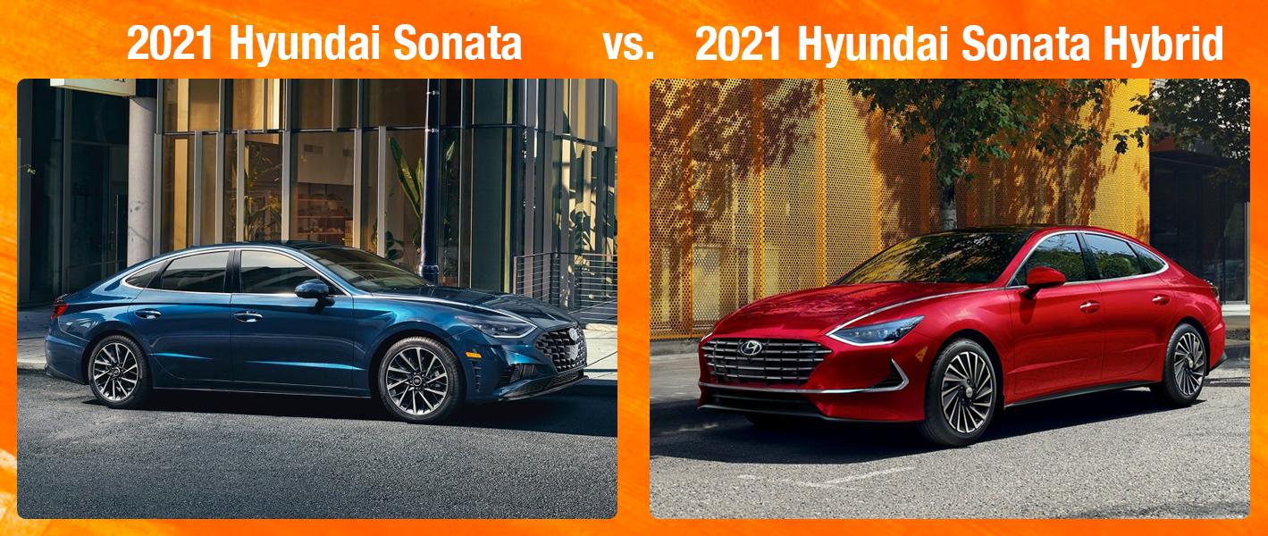 2021 Hyundai Sonata vs 2021 Sonata Hybrid Chicago IL