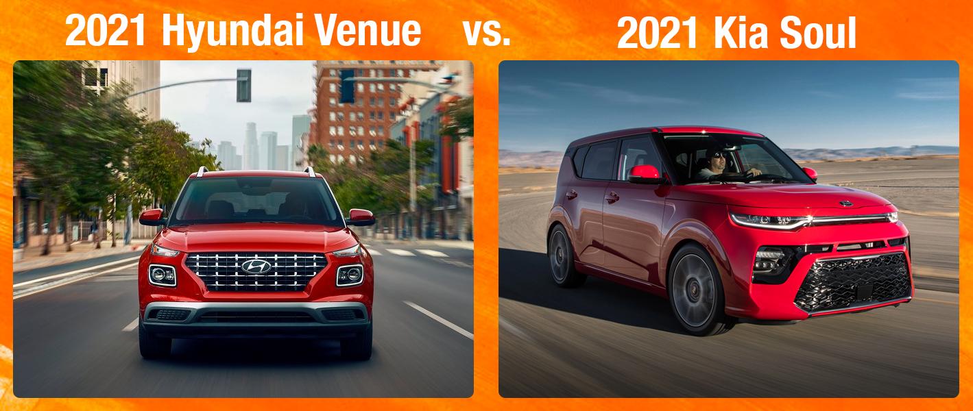 2021 Hyundai Venue vs 2021 Kia Soul Chicago IL