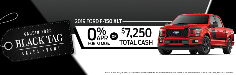 Black Tag 2019 Ford F150