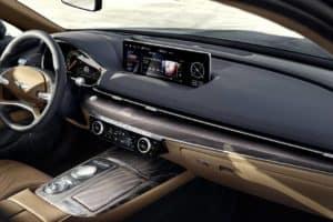 2021 Genesis G80 vs BMW 5 Series Interior Technology