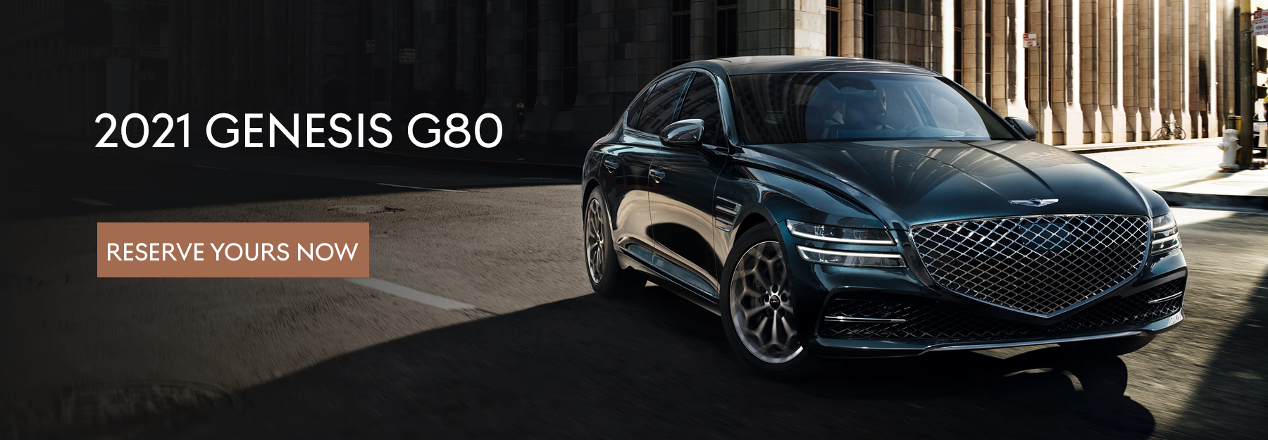 2021 G80 Reserve Now