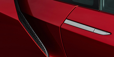 2017 Acura NSX Flush-Mounted Door Handles