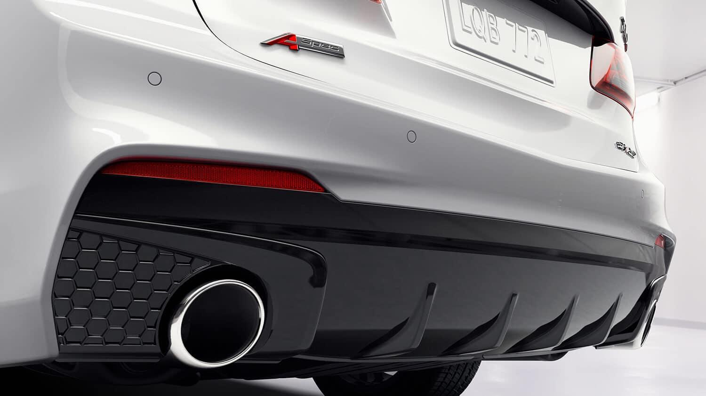 2019 Acura TLX Exterior A-Spec Dual Exhaust Closeup