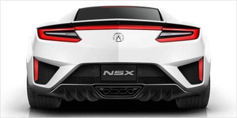 2018 Acura NSX Rear Design