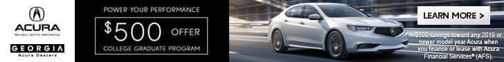 Acura College Graduate Program Georgia Acura Dealers Ad
