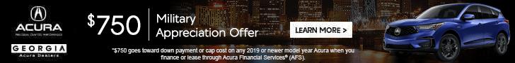Acura Military Appreciation Offer Georgia Acura Dealers Ad