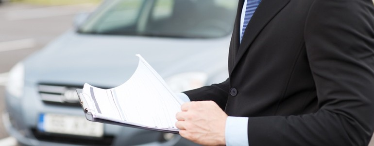 Finance Specialist with paperwork
