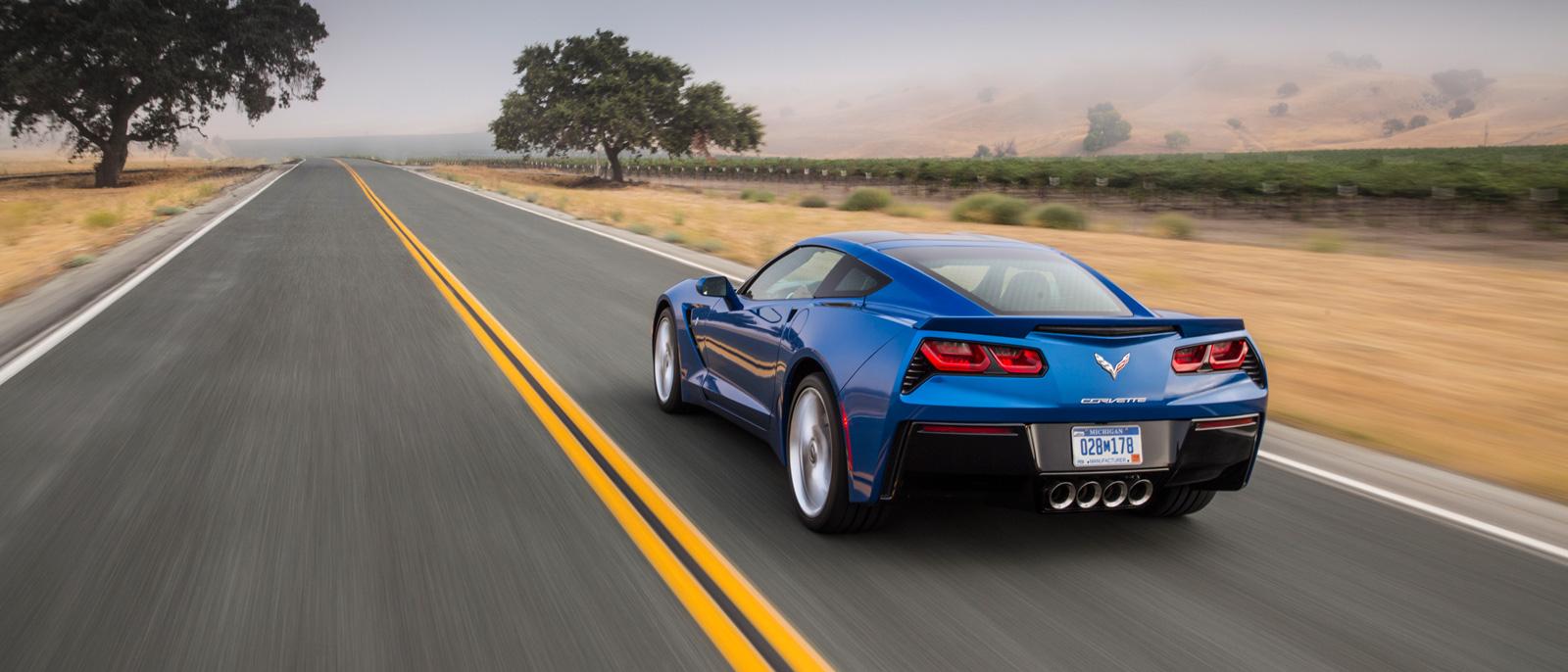 2016 Chevrolet Corvette in blue